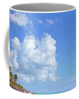 Coffee Mug featuring the digital art On The Beach M1 by Francesca Mackenney