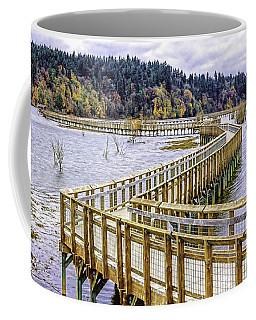 On The Boardwalk  Coffee Mug by Jean OKeeffe Macro Abundance Art