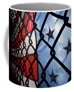 Coffee Mug featuring the photograph On The Fence by Robert Geary
