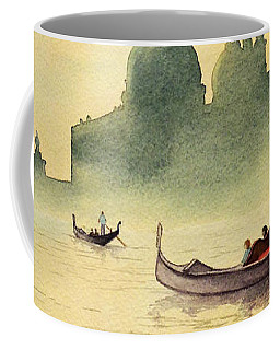 Coffee Mug featuring the painting On The Grand Canal Venice Italy by Bill Holkham