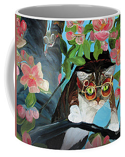 Coffee Mug featuring the painting On The Hunt by Donna Hall