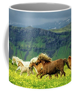 Coffee Mug featuring the photograph On The Move by Joan Davis