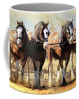 On The Plough Coffee Mug by Trudi Simmonds