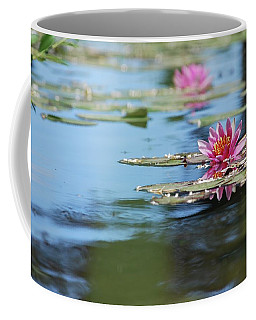 Coffee Mug featuring the photograph On The Pond by Amee Cave