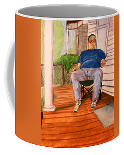 On The Porch With Uncle Pervy Coffee Mug by Jean Haynes