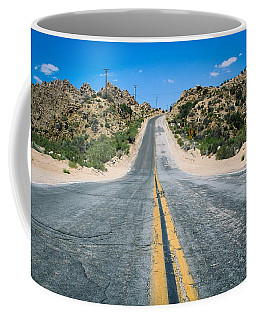 Coffee Mug featuring the photograph On The Road Again by Alison Frank