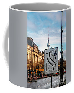 Coffee Mug featuring the photograph On The Road In Berlin by Ana Mireles
