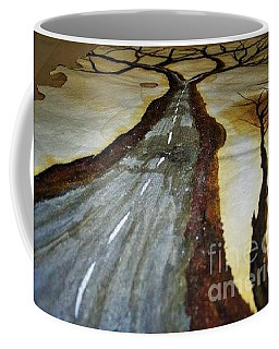 On The Road Of The Tree Of Life Coffee Mug by Talisa Hartley