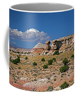 On The Road To Cathedral Valley  Coffee Mug by Cindy Murphy - NightVisions