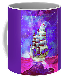 On The Sea At Sunset Coffee Mug