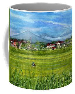 Coffee Mug featuring the painting On The Way To Ubud 3 Bali Indonesia by Melly Terpening