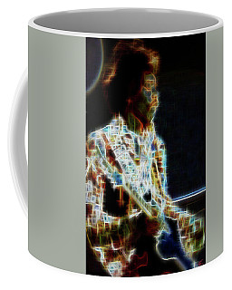 Coffee Mug featuring the digital art On The Wings Of Dragonflies by Kenneth Armand Johnson