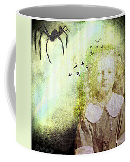 Coffee Mug featuring the digital art Once There Was A Spider by Delight Worthyn