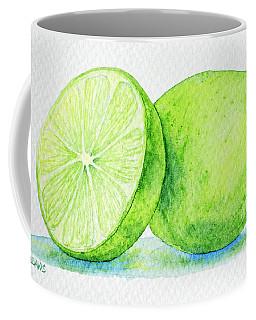 One And A Half Limes Coffee Mug by Rebecca Davis