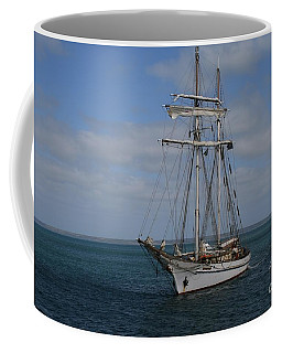 Coffee Mug featuring the photograph Approaching Kingscote Jetty by Stephen Mitchell