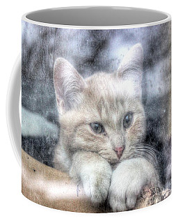 Coffee Mug featuring the pyrography One Behind The Glass by Yury Bashkin