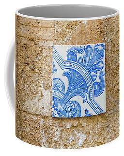 One Blue Vintage Tile  Coffee Mug