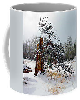 Coffee Mug featuring the photograph One Branch Left by Shane Bechler