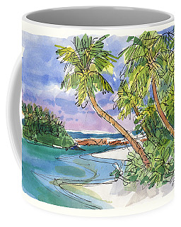 Coffee Mug featuring the painting One-foot-island, Aitutaki by Judith Kunzle