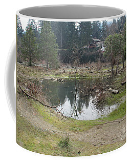 One Goose, One Pond And One Sheet Coffee Mug by Marie Neder