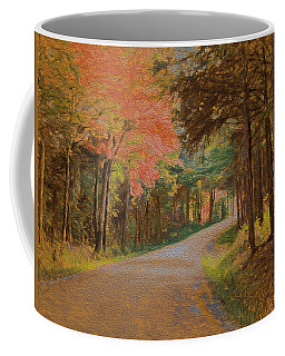 Coffee Mug featuring the digital art One More Country Road by John Selmer Sr