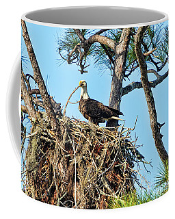Coffee Mug featuring the photograph One More Twig by Deborah Benoit