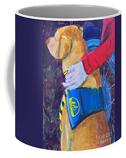 Coffee Mug featuring the painting One Team Two Heroes 3 by Donald J Ryker III