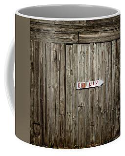 One Way Coffee Mug by Jerry Golab