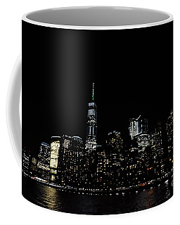 One World Trade Center, Battery Park City, Goldman Sachs At Night. Coffee Mug