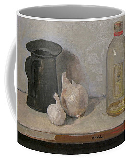 Onion And Garlic,tin Can, And Painting Medium Bottle Coffee Mug