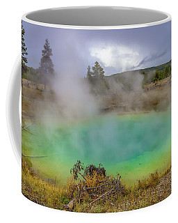 Coffee Mug featuring the photograph Opal Spring Yellowstone National Park by Scott McGuire