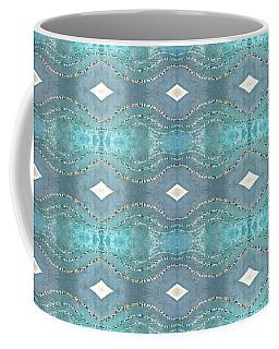 Coffee Mug featuring the digital art Opalescent Wave Design by Ellen Barron O'Reilly