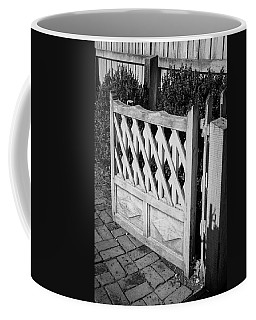 Open Garden Gate B W Coffee Mug