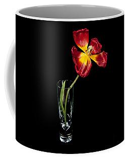 Open Red Tulip In Vase Coffee Mug