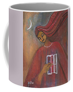 Coffee Mug featuring the painting Open The Windows To Your Soul by Prerna Poojara
