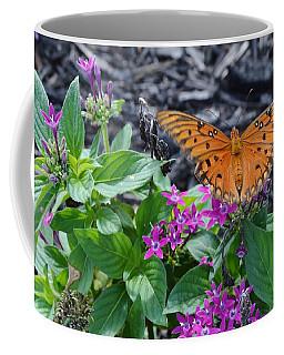 Open Wings Of The Gulf Fritillary Butterfly Coffee Mug