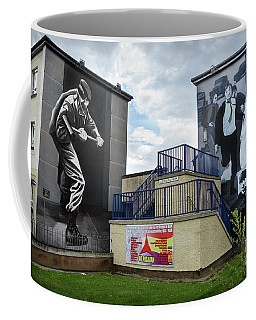 Coffee Mug featuring the photograph Operation Motorman Mural In Derry by RicardMN Photography