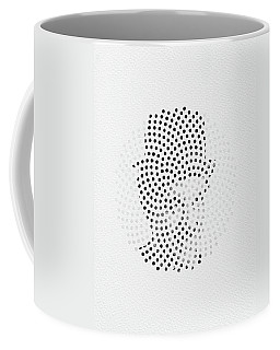 Coffee Mug featuring the digital art Optical Illusions - Iconical People 2 by Klara Acel