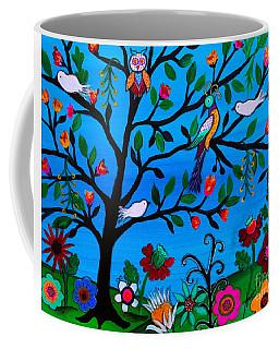 Coffee Mug featuring the painting Optimism by Pristine Cartera Turkus