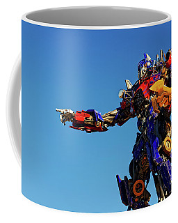 Coffee Mug featuring the photograph Optimus Prime by Paul Mashburn