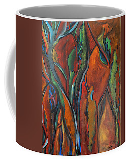 Orange Abstract Coffee Mug