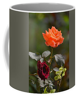 Orange And Black Rose Coffee Mug