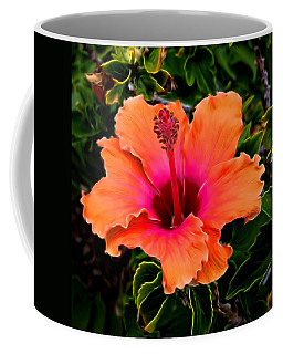 Orange And Pink Hibiscus 2 Coffee Mug