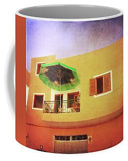 Coffee Mug featuring the photograph Orange Apartment, Alcala by Anne Kotan
