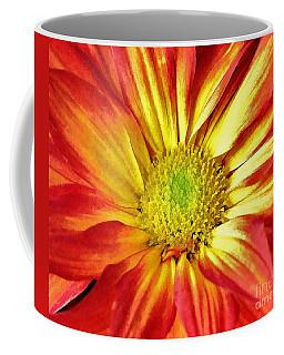 Coffee Mug featuring the photograph Orange Burst by Allen Beatty