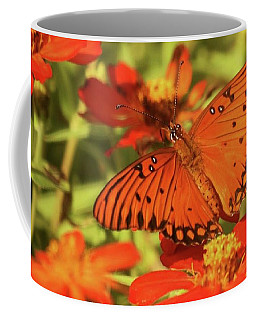 Coffee Mug featuring the photograph Orange Butterfly by Donna G Smith