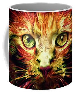 Orange Cat Art - Feed Me Coffee Mug