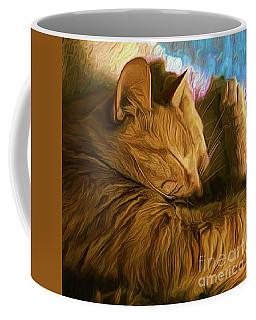 Orange Cat Sleepy Time Coffee Mug