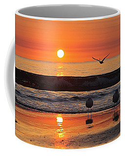 Coffee Mug featuring the photograph Orange Dawn Day by Robert Banach