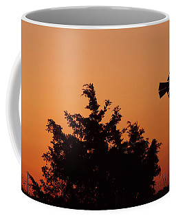 Orange Dawn With Windmill Coffee Mug